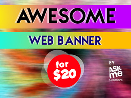 Design creative web banner with unlimited revisions