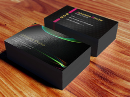 Design a professional,1 sided and double sided business card with unlimited revisions