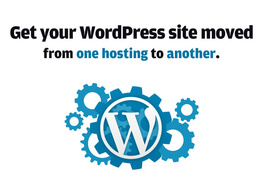 Move your wordpress site from one host/domain to another