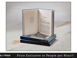 Professionally design, layout and typeset your book ready for print or POD services