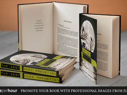 Create a 3D promotional image set from your book cover design or eBook cover