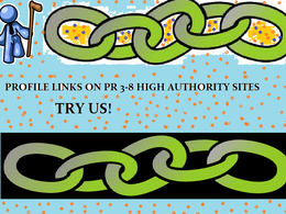 Build 15 profile links on  high authority sites with attractive descriptions