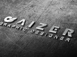 Convert your logo or text into steel 3D image