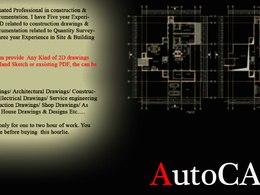 Conversation of your hand sketches, existing drawings, pdf-s to AutoCAD.