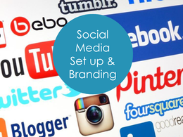 Set up social media accounts and brand them for you