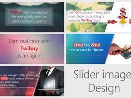 Design 6 professional, creative banner/slider image for websites