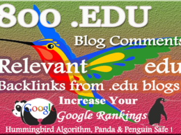Create 800 relevant edu blog Comment Backlinks to improve your Google rank