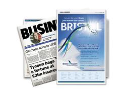 Design a professional magazine/newspaper advert