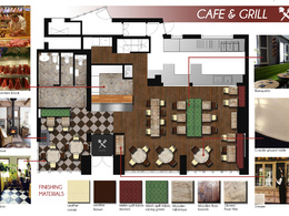 Create  professional interior design layout / mood board