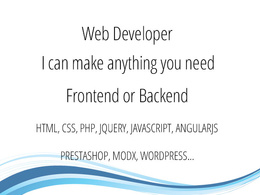 Turn your design into HTML, CSS, JQUERY & PHP