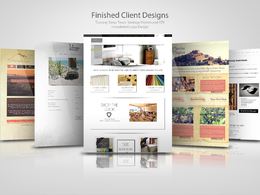 Design you a beautiful bespoke website page (photoshop)