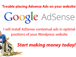 Install your code for contextual Google Adsense ads on your Wordpress website