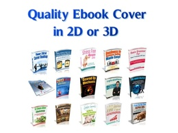 Design a Quality Professional 2D or 3D Ebook Cover