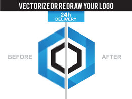 Vectorize or Redraw your logo in 24h