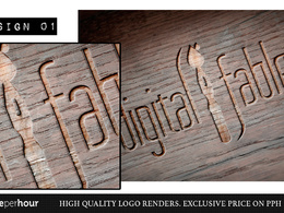 Create a high quality 3D render of your logo or text in a variety of styles