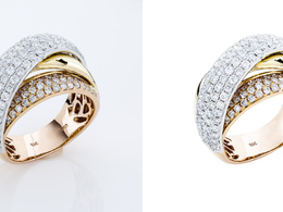 Retouch 10 jewelry images to studio quality