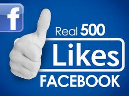 Add 500 Real Organic Facebook likes
