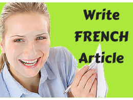 Write a FRENCH Article (500 words) - High Quality SEO-optimized