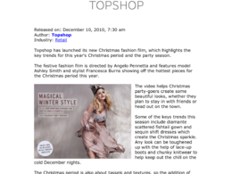Distribute your fashion, beauty, health/fitness press release to UK press