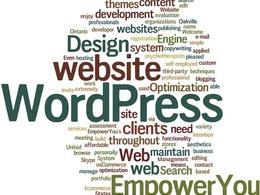 Set up your basic Wordpress website