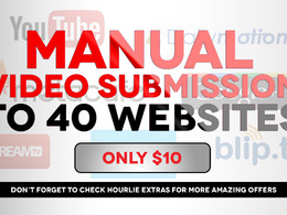 Submit video to top 40 video sharing sites & increase traffic