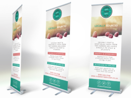 Create print ready banner stand artwork packages