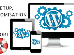 Setup, customise & offer technical support for your Wordpress website