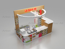 Design Exhibition Stall from your given reference
