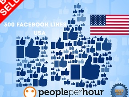 Send you 300 facebook likes USA United States real genuine for fan page