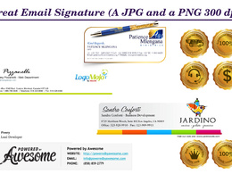 Design great email signature (A jpg and PNG 300 dpi)