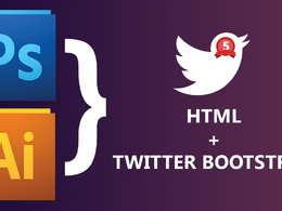 Convert PSD to responsive HTML5, CSS3 website using Bootstrap