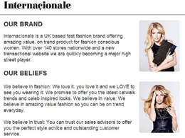 Write your brand profile/about page for companies in fashion, beauty, health/fitness