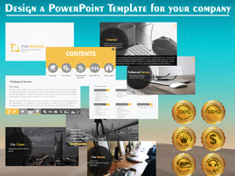 Design a PowerPoint branded template for your presentations