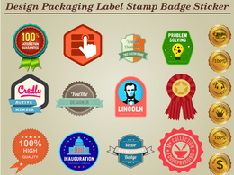 Design Packaging Label, Stamp,Badge, Sticker vintage