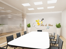 Make an awesome eye catching virtual business office with your logo, Total 10 Options