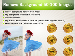 Remove background 50 -100 images or do anything in Photoshop