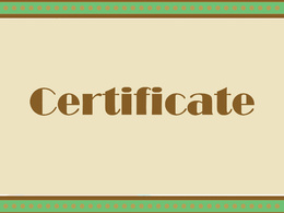 Make 10 copies with different names and logos based on a certificate template