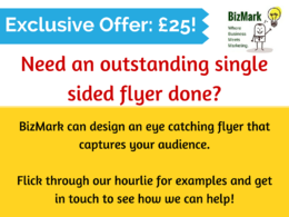 Design you a one sided high flying leaflet or poster