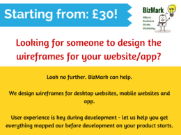 Design mock-ups/wireframes for your website or app