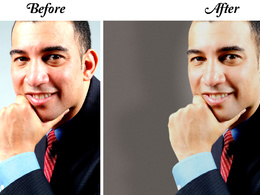 Retouch 1 portrait for social media.