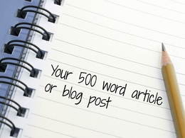 Write an original 500 word article on any subject