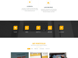 Design a homepage psd template for website