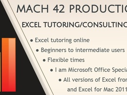 Tutor you in Microsoft Excel for one hour online