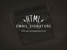 Design your new html email signature