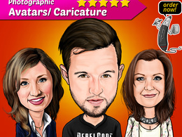 Draw custom professional caricature/avatar