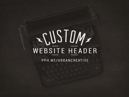 Your new website or blog banner design.
