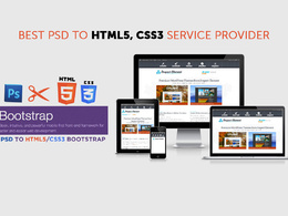 Convert a PSD to HTML5/CSS3 using bootstrap4 inc. jQuery plugins
