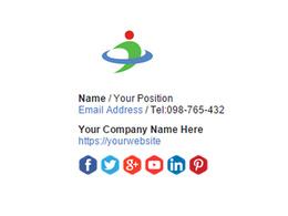 Design your email signature including social media links