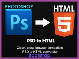 Convert a PSD to HTML5 Bootstrap 3.0 Home page