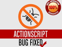Fix bugs in your Actionscript code
